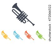 trumpet icon | Shutterstock .eps vector #472066522