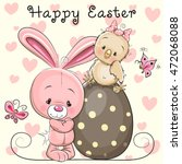 greeting easter card cute... | Shutterstock . vector #472068088