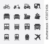 transportation vector icon | Shutterstock .eps vector #472071436