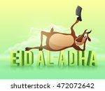 illustration of a funny goat... | Shutterstock .eps vector #472072642