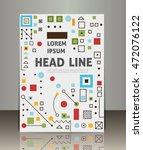 vector business brochure or... | Shutterstock .eps vector #472076122
