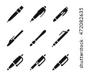 pen vector icons. simple...