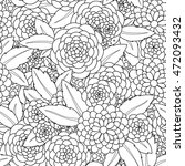 doodle flowers seamless pattern.... | Shutterstock .eps vector #472093432