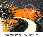 colorful abstract grunge... | Shutterstock .eps vector #47209429