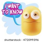 3d rendering sad character... | Shutterstock . vector #472099396