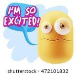 3d rendering sad character... | Shutterstock . vector #472101832