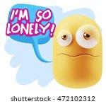 3d rendering sad character... | Shutterstock . vector #472102312
