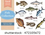 fish collection  dorado  fish... | Shutterstock .eps vector #472105672