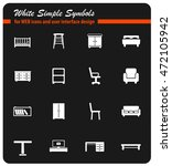 furniture simply symbols for... | Shutterstock .eps vector #472105942