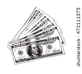 "pencil drawing ""us dollars...   Shutterstock . vector #472111375"
