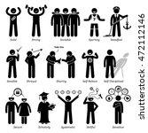 positive personalities... | Shutterstock . vector #472112146