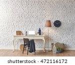 brick wall horizontal banner... | Shutterstock . vector #472116172