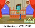 kanha in palna  cradle  krishna ... | Shutterstock .eps vector #472118542