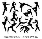 a set of woman street dance hip ... | Shutterstock . vector #472119616