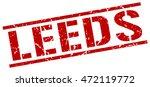 leeds stamp. red square leeds... | Shutterstock .eps vector #472119772