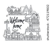 a composition of the cottages...   Shutterstock .eps vector #472119832