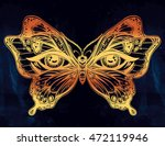 beautiful butterfly wings with... | Shutterstock .eps vector #472119946