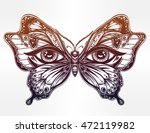 beautiful butterfly wings with... | Shutterstock .eps vector #472119982