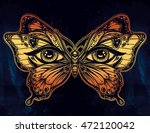 beautiful butterfly wings with... | Shutterstock .eps vector #472120042