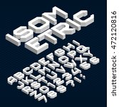 isometric alphabet font. type... | Shutterstock .eps vector #472120816