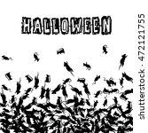 halloween banner with black... | Shutterstock .eps vector #472121755