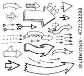 arrow doodles. set of arrows... | Shutterstock .eps vector #472123288