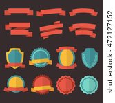 set of retro badges  labels and ... | Shutterstock .eps vector #472127152
