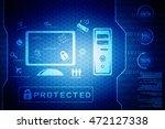 2d illustration digital... | Shutterstock . vector #472127338