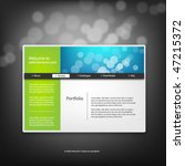 web site design template ... | Shutterstock .eps vector #47215372