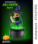 witch illustration | Shutterstock .eps vector #472157452