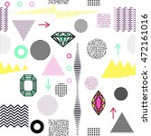 trendy geometric elements... | Shutterstock .eps vector #472161016