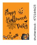 halloween party design template ... | Shutterstock .eps vector #472164625
