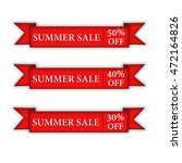 summer sale on a white... | Shutterstock . vector #472164826