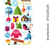 seamless pattern with winter... | Shutterstock .eps vector #472165135
