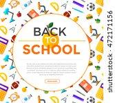 vector back to school... | Shutterstock .eps vector #472171156