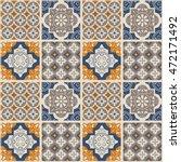 decorative tile pattern design. ...   Shutterstock .eps vector #472171492