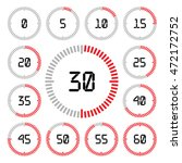 countdown timer with five... | Shutterstock .eps vector #472172752