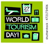 world tourism day   flat style... | Shutterstock .eps vector #472173406