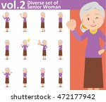 Diverse Set Of Old Woman On...