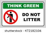 think green concept  do not... | Shutterstock .eps vector #472182106