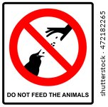 do not feed the animals... | Shutterstock .eps vector #472182265