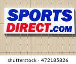 Small photo of VILNIUS, LITHUANIA - AUGUST 7, 2016: Sports Direct logo. Sports Direct International plc is a British retailing group. Sports Direct is sports-goods retailer and operates roughly 670 stores worldwide.