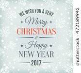 merry christmas  and happy new... | Shutterstock .eps vector #472189942