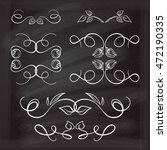set of elegant floral elements... | Shutterstock .eps vector #472190335