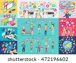social media infographic set... | Shutterstock .eps vector #472196602