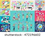 social media infographic set... | Shutterstock .eps vector #472196602