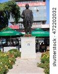 Small photo of SE Europe, central Balkan Peninsula, The Republic of Macedonia, Skopje, statue,Hasan Prishtina (Hasan Berisha 1873 -?? 1933), Albanian politician, Prime Minister of Albania 1921. 2015-09-17