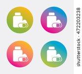 medical pills bottle sign icon. ... | Shutterstock .eps vector #472203238