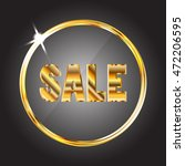 sale tag. gold text in the gold ... | Shutterstock .eps vector #472206595