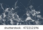 abstract background with dotted ... | Shutterstock . vector #472212196